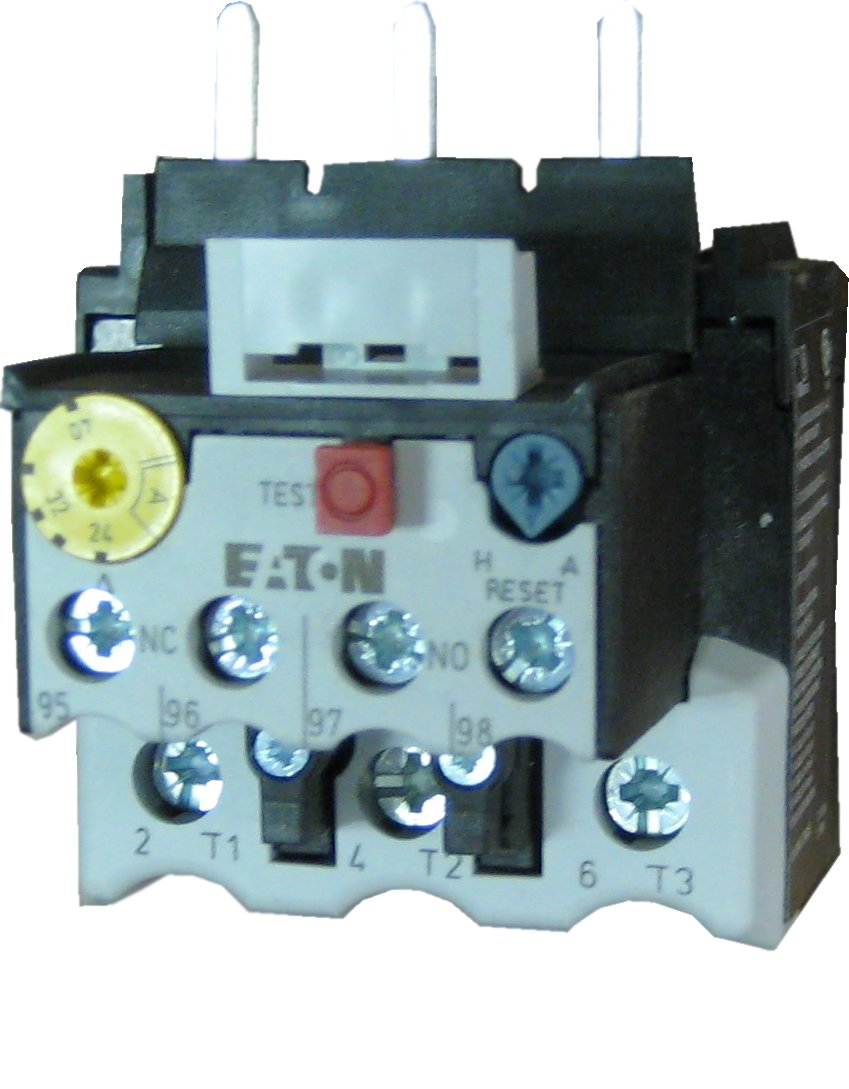 Eaton XTOB065DC1 3 pole thermal magentic overload relay adjustable from 57 to 67 AMPS - Fits all Frame size D contactors