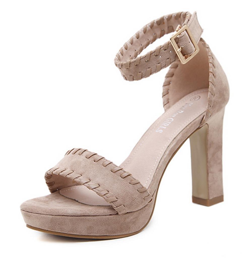MNII Scarpe Da Ginnastica Alti Talloni Sandali Da Donna Piattaforma , apricot , eur39- modo di estate