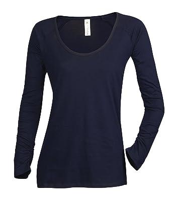 BC Ladies Plain Long Sleeve 100 Cotton T Shirt Top Amazoncouk Clothing