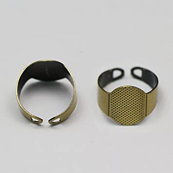10mm 12mm 14mm 16mm Ring Blanks Cabochon Settings Ring Base Adjustable Brass