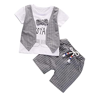 Staron  2pcs Baby Hoodie Clothes Boys Long Sleeves Packet Tops+Pants Infant Outfits Set