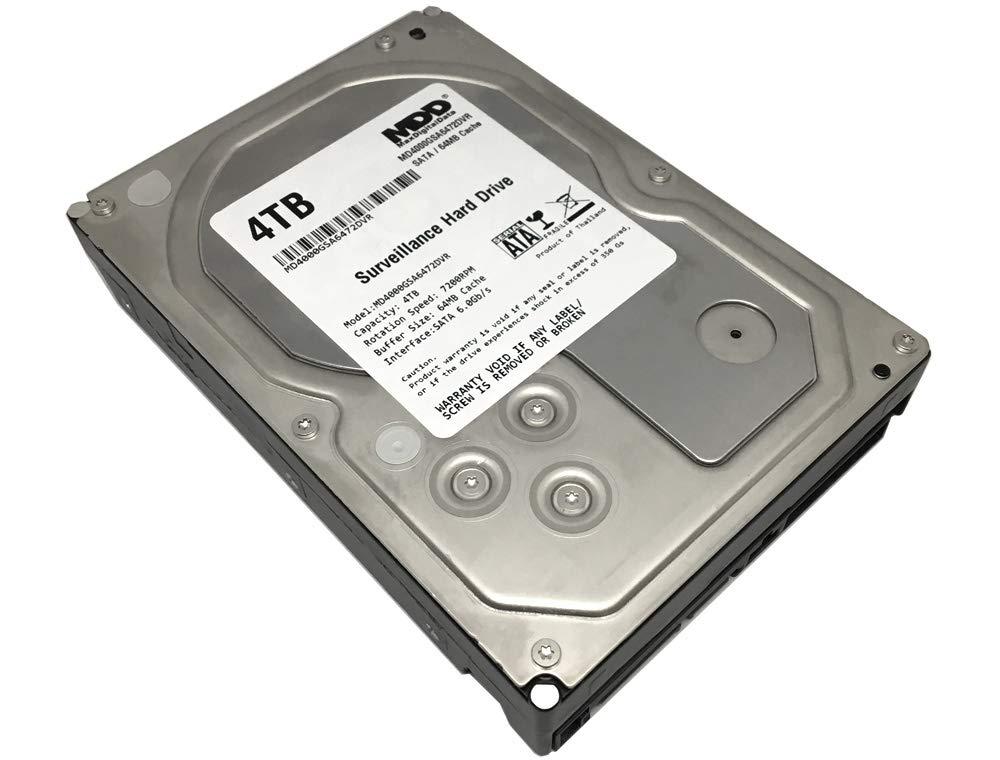 MaxDigitalData 4TB 64MB Cache 7200PM SATA 6.0Gb/s 3.5'' Internal Surveillance CCTV DVR Hard Drive (MD4000GSA6472DVR) - w/ 2 Year Warranty