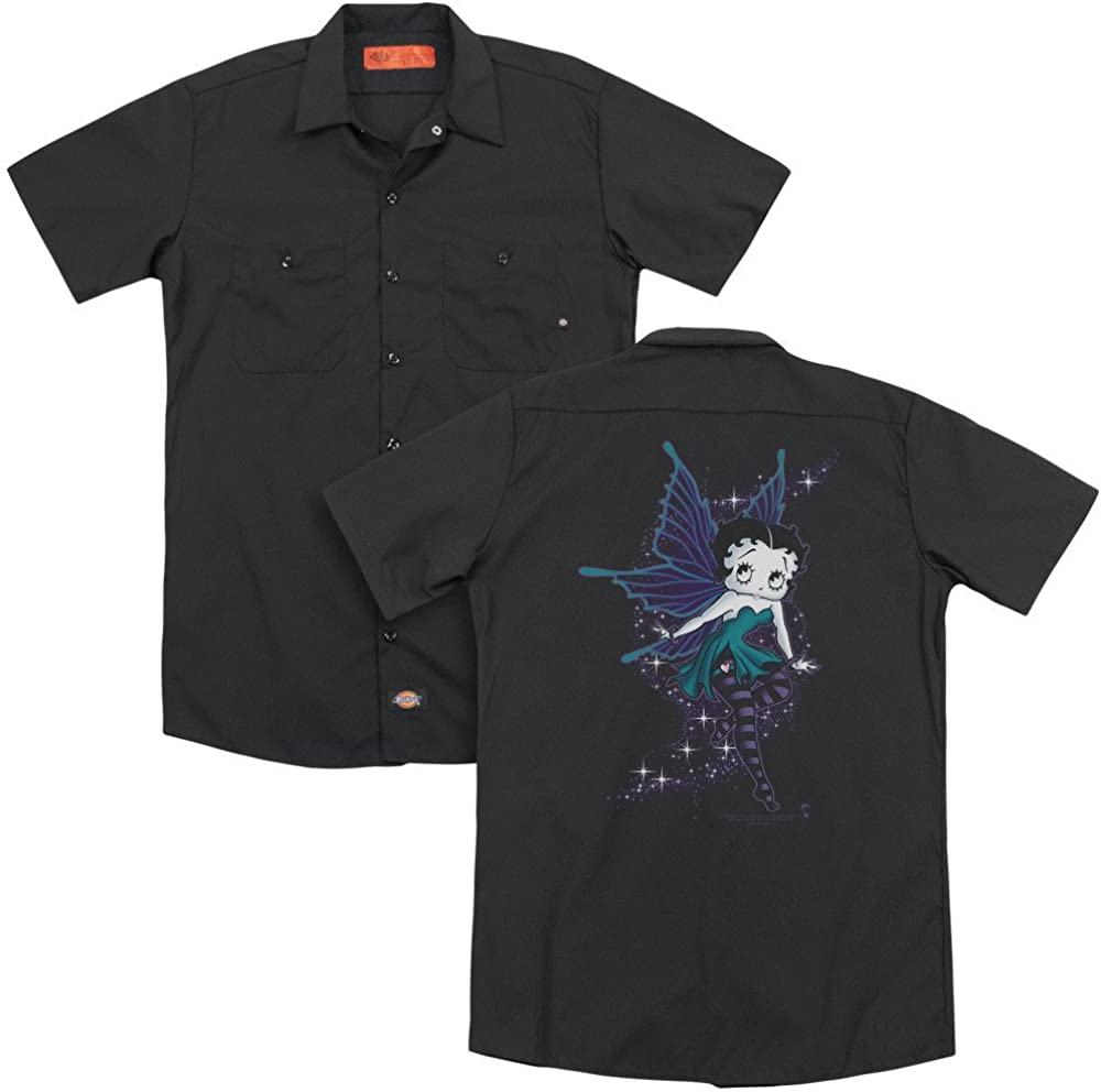 Sons of Gotham Betty Boop Sparkle Fairy Adult Work Shirt