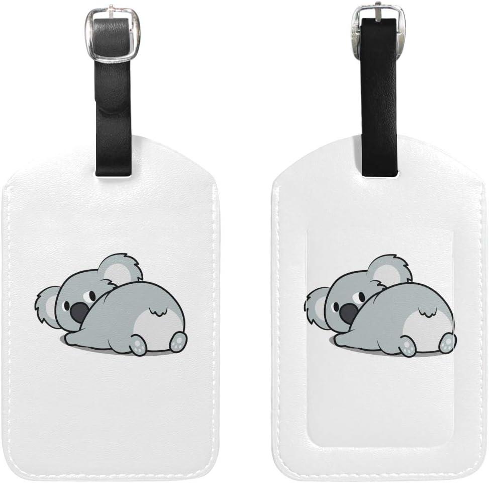 MyDaily Lot de 2 /étiquettes de Bagage en Cuir PU Motif Koala