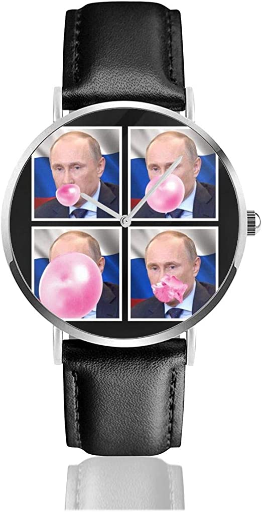 Unisex Business Casual Vladimir Putin Bubblegum Watches Quartz Leather Watch With Black Leather Band For Men Women Young Collection Gift Amazon Co Uk Watches