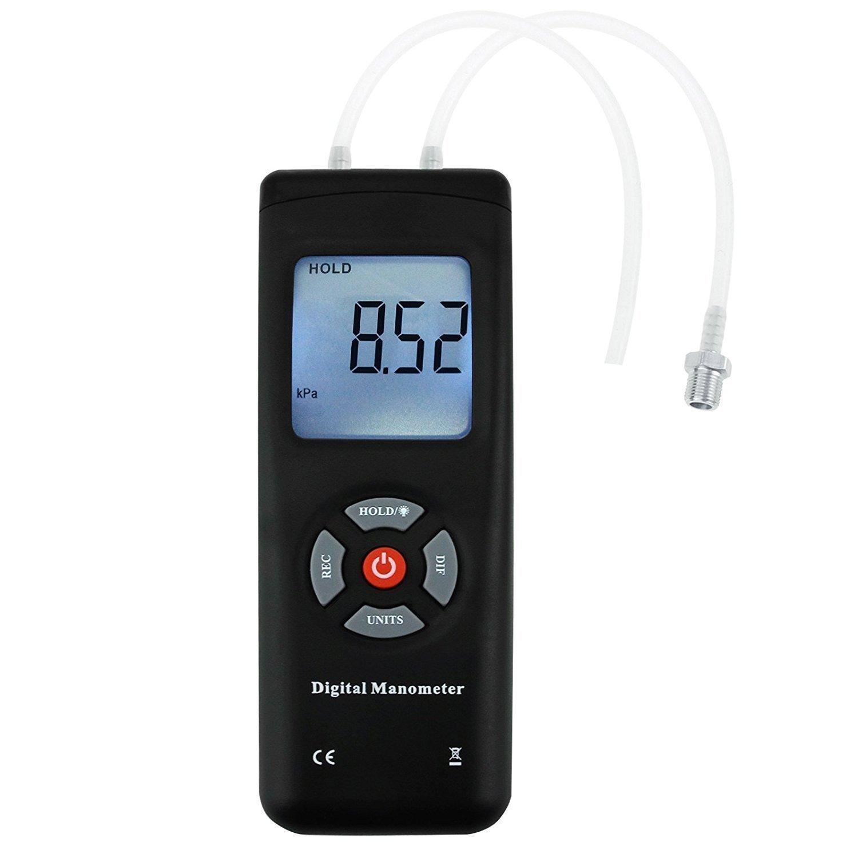 Manómetro Digital Profesional, Medidor Portátil Portátil De Medidor De Vacío De Aire 11 Unidades Con Retroiluminación, ± 13.78kPa ± 2PSI: Amazon.es: ...
