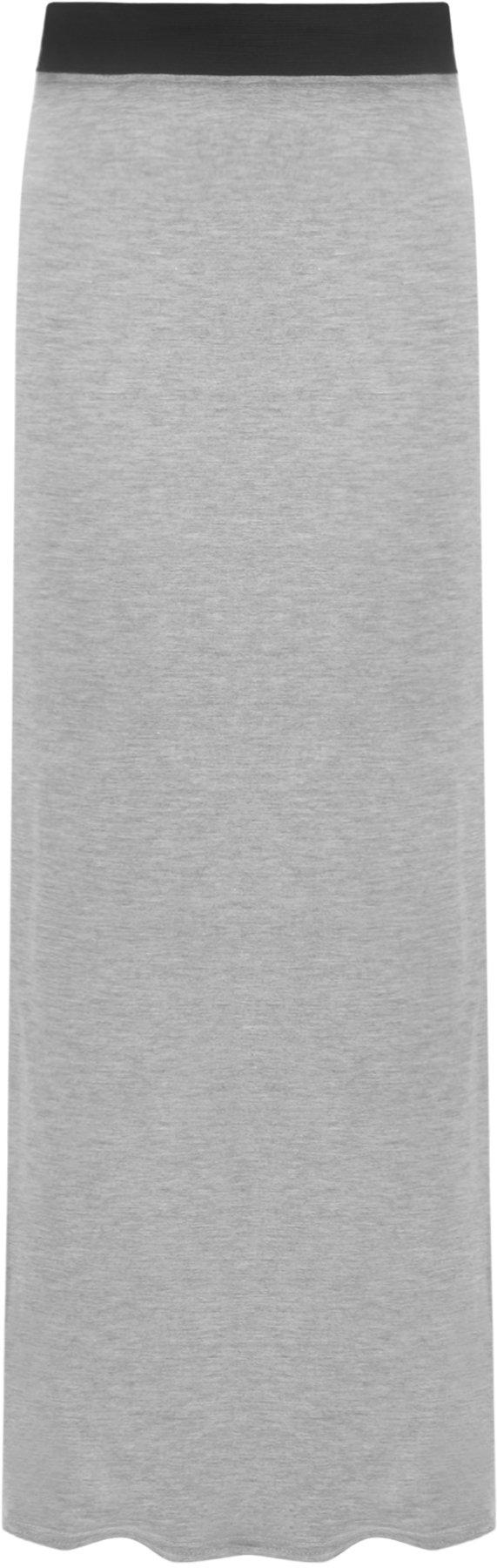 WearAll Women's Long Maxi Skirt - Light Gray - US 8-10 (UK 12-14)