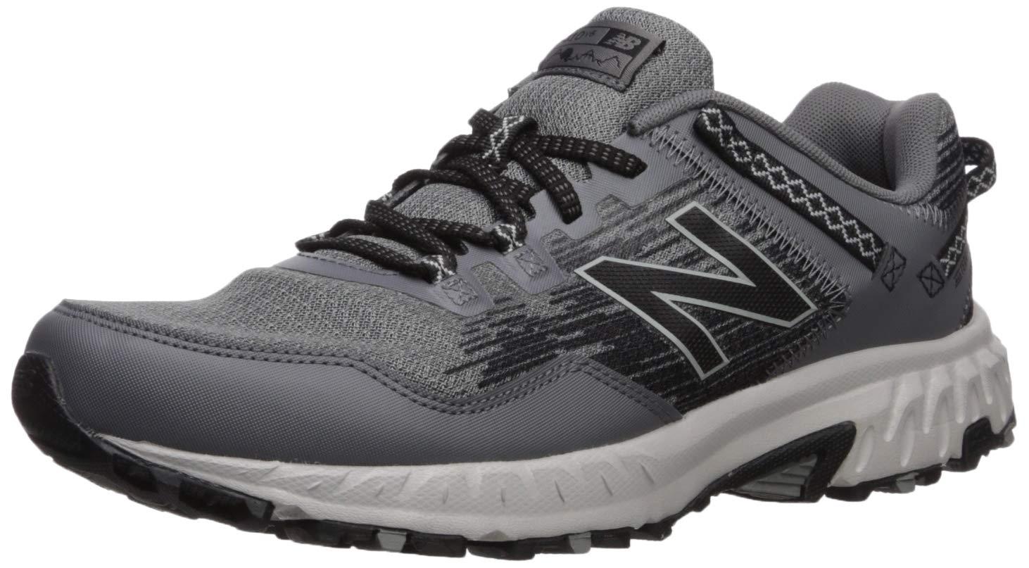New Balance Men's 410v6 Cushioning Trail Running Shoe, Castlerock/rain Cloud/Black, 8 4E US by New Balance
