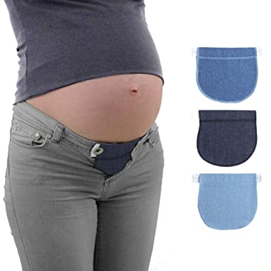 72ceaaf81598d Tree2018 Women's Adjustable Cotton Maternity Waistband (Black, Free Size)