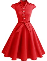 Wedtrend Women's 1950s Cap Sleeves Swing Vintage Party Dresses Multi Colored