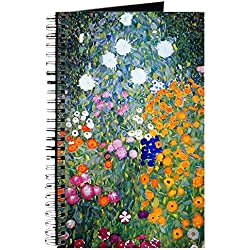 CafePress - Klimt - Flower Garden Journal - Spiral Bound Journal Notebook, Personal Diary, Lined