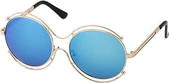 سكاي فيجن نظارة شمسية شبه دائري للنساء  - ازرق، 48910