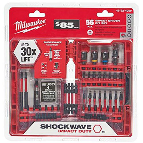 Milwaukee 56-Piece Shockwave Impact Duty Driver Bit Set, 48-32-4059 by Milwaukee