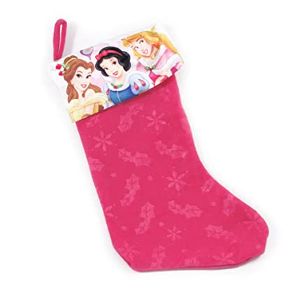 disney characters felt 18 christmas stocking w printed satin cuff many styles - Disney Princess Outdoor Christmas Decorations
