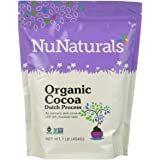 NuNaturals Dutch Processed Cocoa Powder Pure Cocoa Powder Organic, Fair Trade Certified and Non GMO Verified 1 Pound