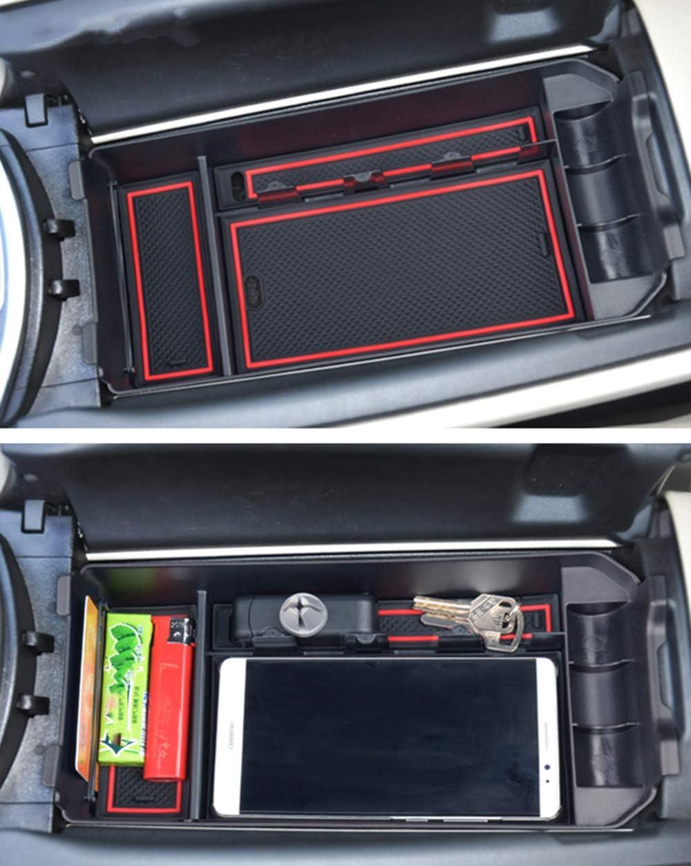 Armlehnen Aufbewahrungsbox F/ür B enz GLC Class C Interieur Aufbewahrungskiste Mittelkonsole Veranstalter Auto Armlehne Box Accessories