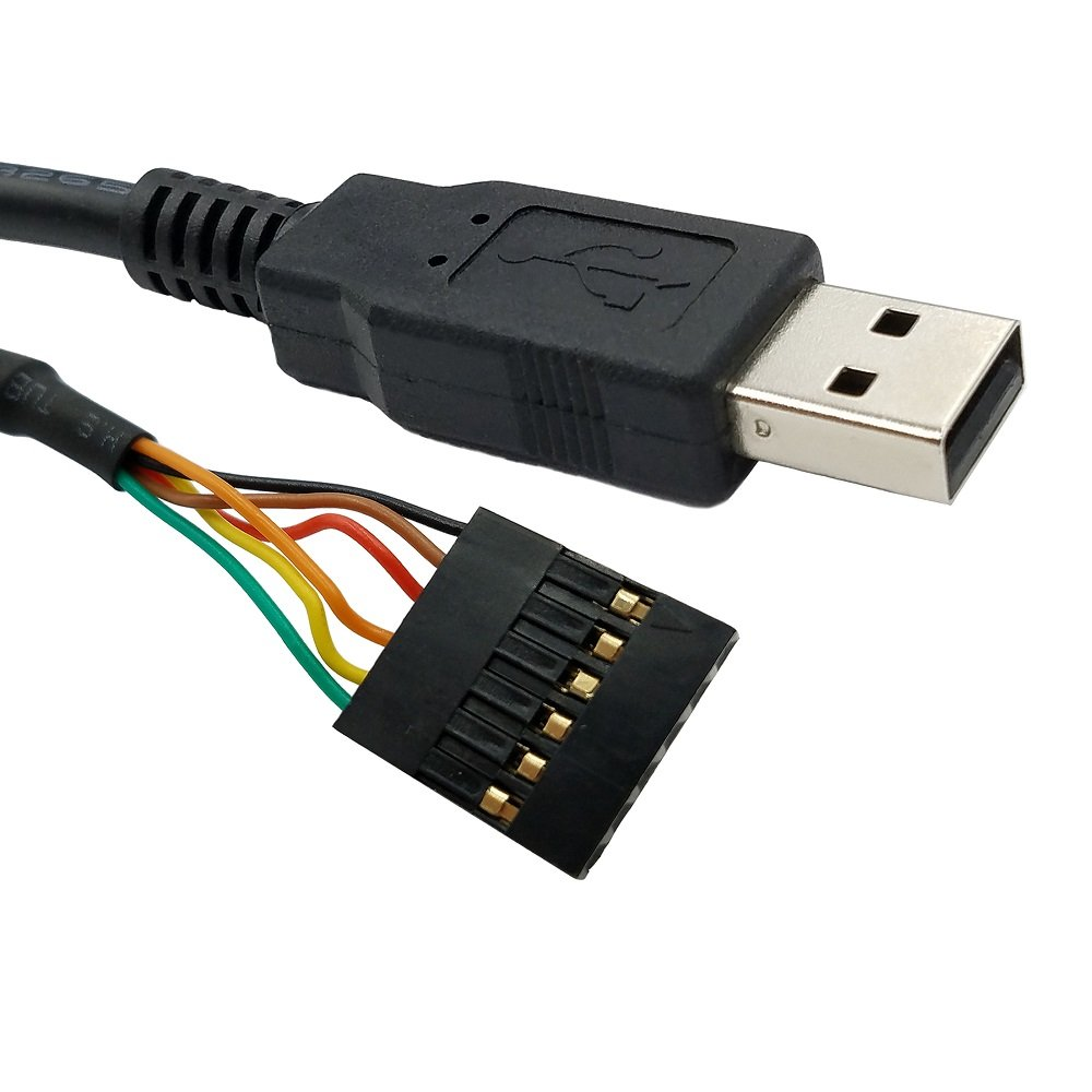 USB to TTL Serial 3.3V UART Converter Cable with FTDI Chip Terminated by 6 Way Header, Works with Galileo Gen2 Boards/BeagleBone Black/Minnowboard Max and more