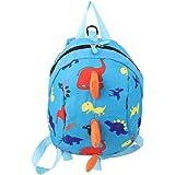 ODN Child Safety Harness Backpack Leash Toddler Anti-Lost Dinosaur Bag (Blue)