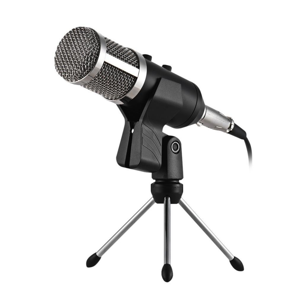 SUKEQ USB Microphone, Professional Home Studio Condenser Microphone for Computer PC, Broadcast, Recording, Podcasting (Black)