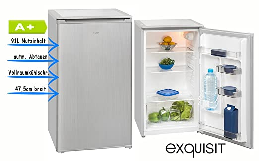 Exquisit KS 92 4 RVA+ Si Top Kühlschrank/silber/EEK: A+ / 91 Liter  Nutzinhalt: Amazon.de: Elektro Großgeräte