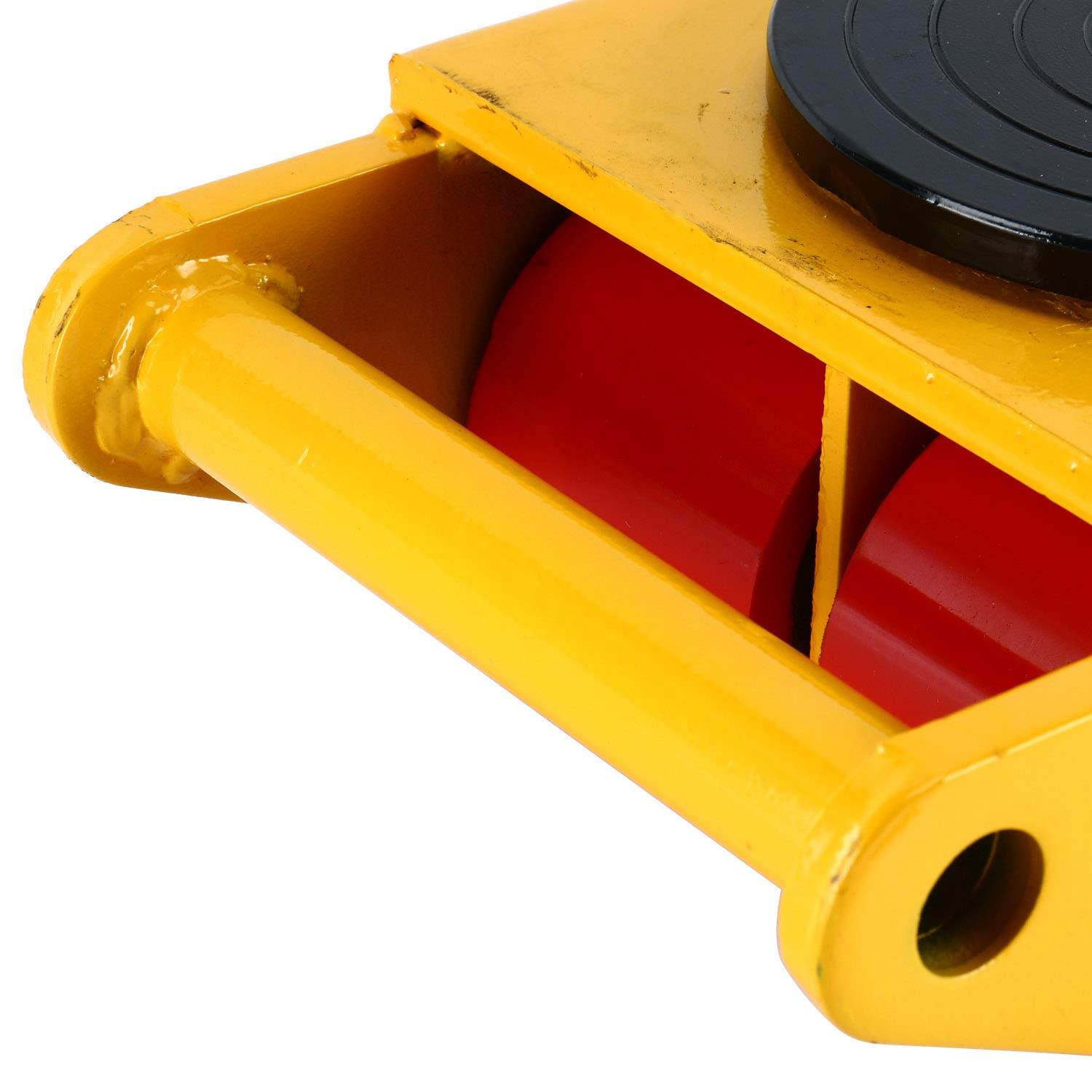 YaeTek Industrial Machinery Mover 13200 lbs 6 Tons Machinery Skate Dolly with 4 Rollers Cap 360 Degree Rotation (Yellow) by YAE TEK (Image #5)