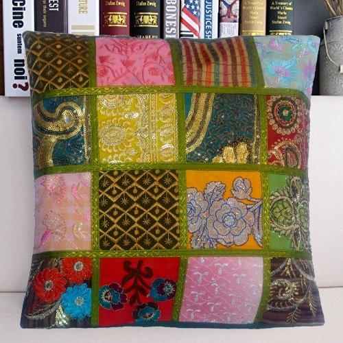 Patchwork Decorative Throw Pillow - 7