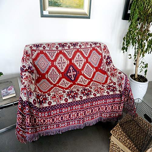 JINSH Home Baumwolle Gestrickte Sofa Handtuch Sofa Decke Freizeit Decke B & B Inn dekorative Tapisserie (Size : 90cm*90cm)