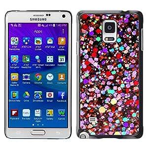 Paccase / SLIM PC / Aliminium Casa Carcasa Funda Case Cover para - Colors Vibrant Purple Teal Red - Samsung Galaxy Note 4 SM-N910F SM-N910K SM-N910C SM-N910W8 SM-N910U SM-N910