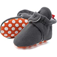CIOR Baby Newborn Cozy Fleece Booties Non Skid Bottom