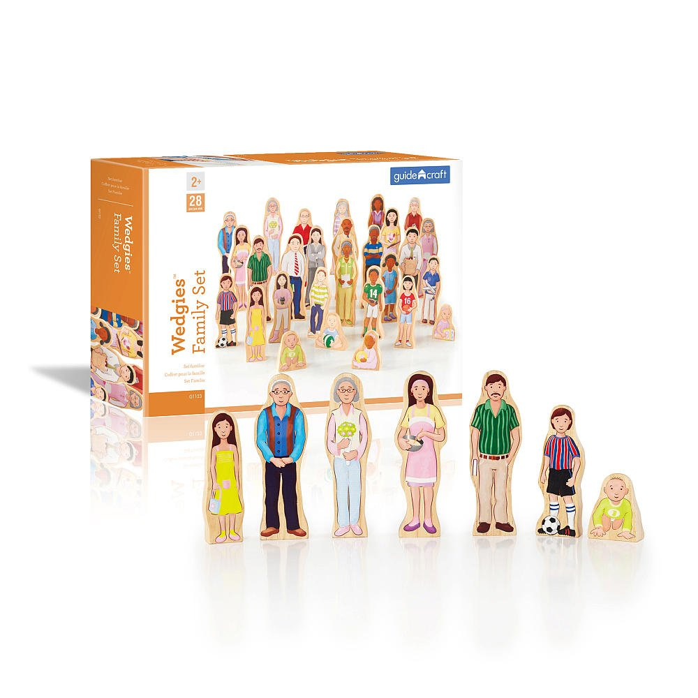 Wedgies Family Set of Solid Wood Characters by Guidecraft