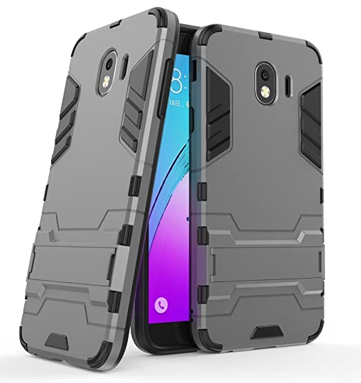 pretty nice 64f28 792d4 Samsung Galaxy J4 (2018) Case, FoneExpert Shockproof Rugged Impact Armor  Slim Hybrid Kickstand Protective Cover Case for Samsung Galaxy J4 (2018)