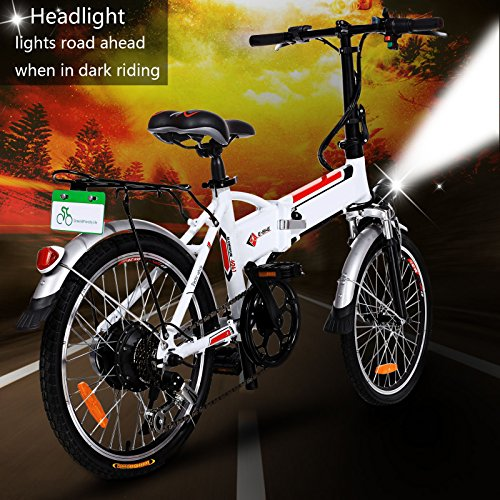 Zaplue 20 Quot Foldable Electric Bike With 36v 8ah Removable