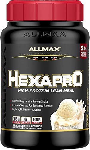 ALLMAX Nutrition Hexapro Protein Blend, french Vanilla, 2 lbs
