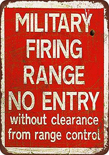 Military Firing Range vintage reproduction metal tin sign 8 x 12