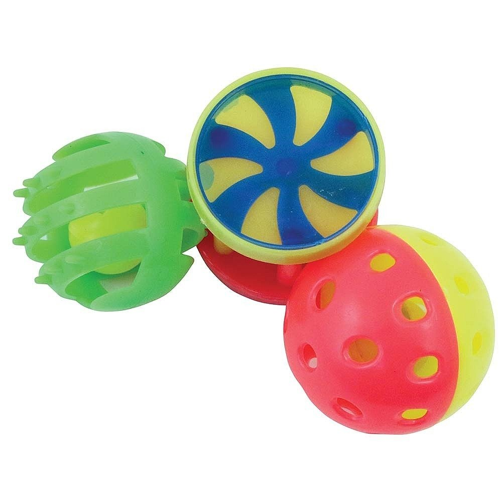 Pack of 3 Roll /& Ring Foot Toys for Parrots