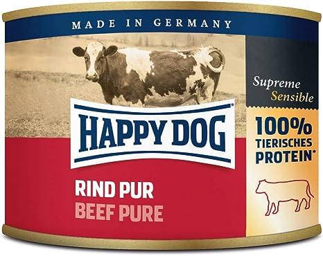 Happy Dog Fleisch Dosen Rind Pur, 200 g, 12er Pack (12 x 200 g)