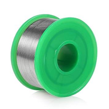 0.8 mm Alambre de soldadura Sin plomo sn99.9 cu0.7 con colofonia núcleo para trabajos de soldadura electrónica (100 g): Amazon.es: Bricolaje y herramientas
