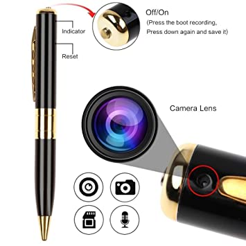 Fleejost HD Quality Video/ Audio Hidden Recording, Hd Sound Clarity Pen Camera With Memory Card Inserting Facility Spy Cameras at amazon