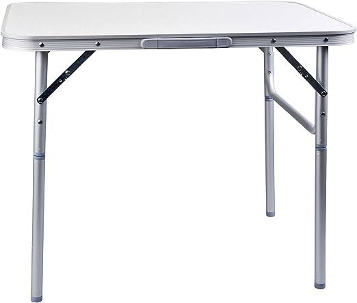 Aluminio camping mesa plegable – Muy Ligero – 75 x 55 cm – Altura ...