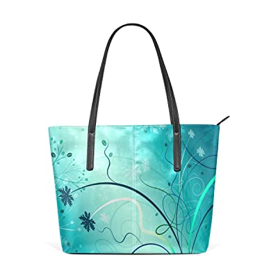Womens Leather Top Handle Shoulder Handbag Insects Large Work Tote Bag
