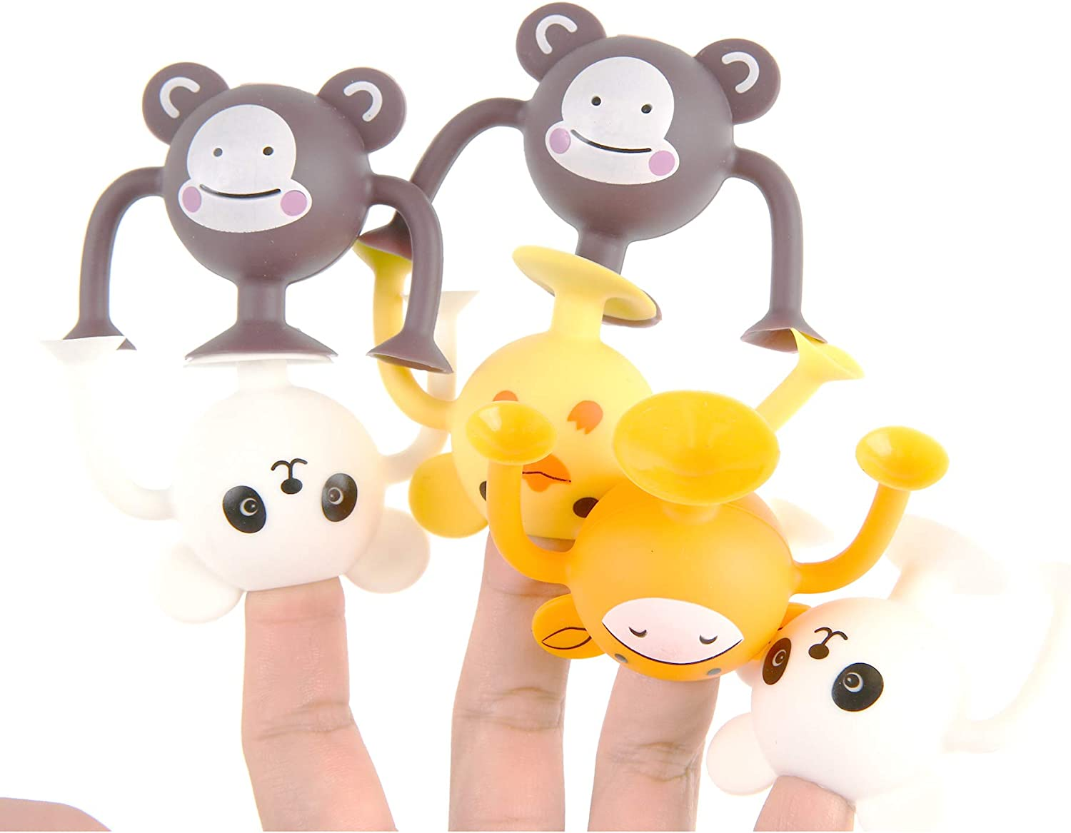 NeatoTek Cute Animal 30 Pack Suction Cup Building Toy Construction Set Compatible with Squigz Suction Building Toy Kit