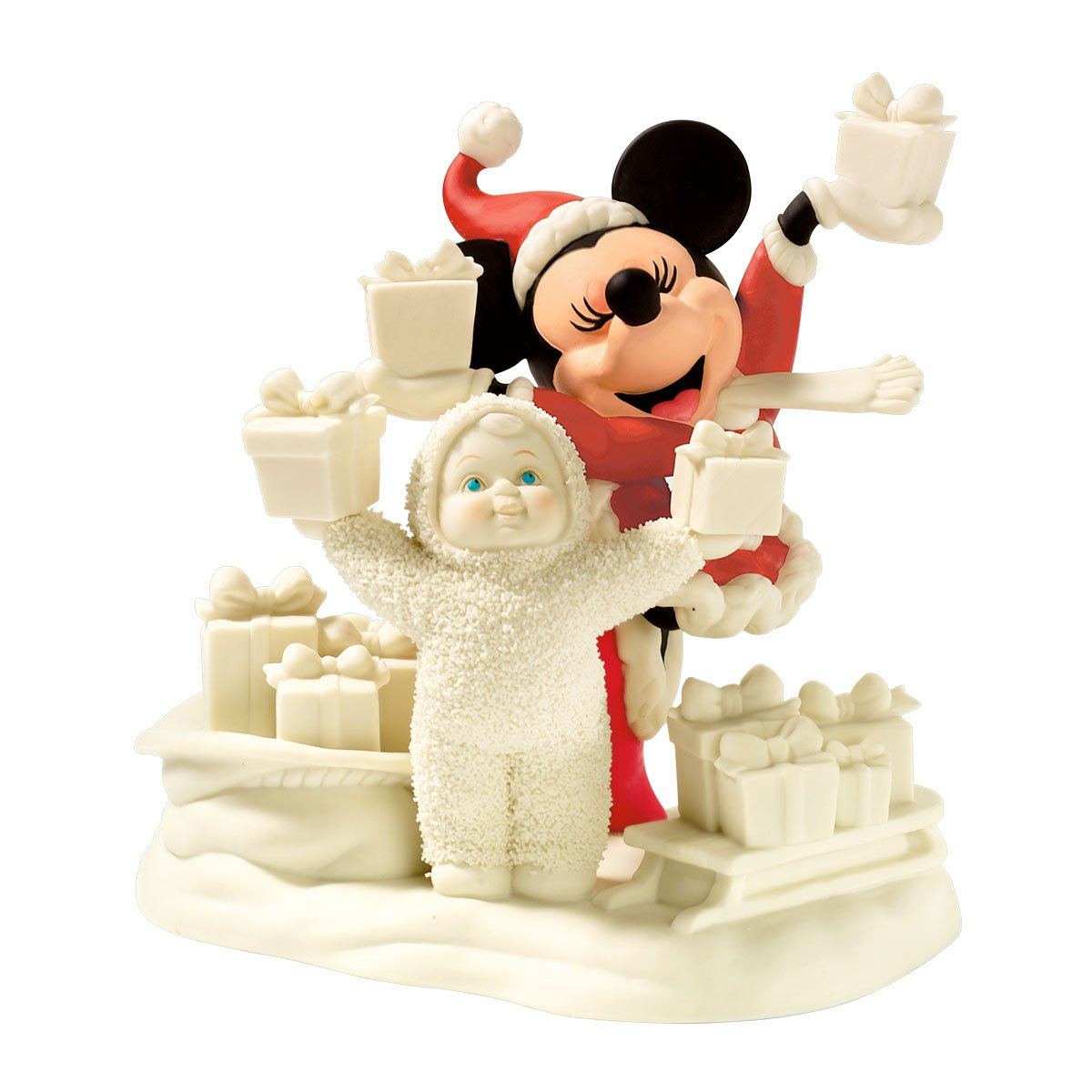 Department 56 Snowbabies Guest Collection Disney Look What We Have For Mickey Figurine