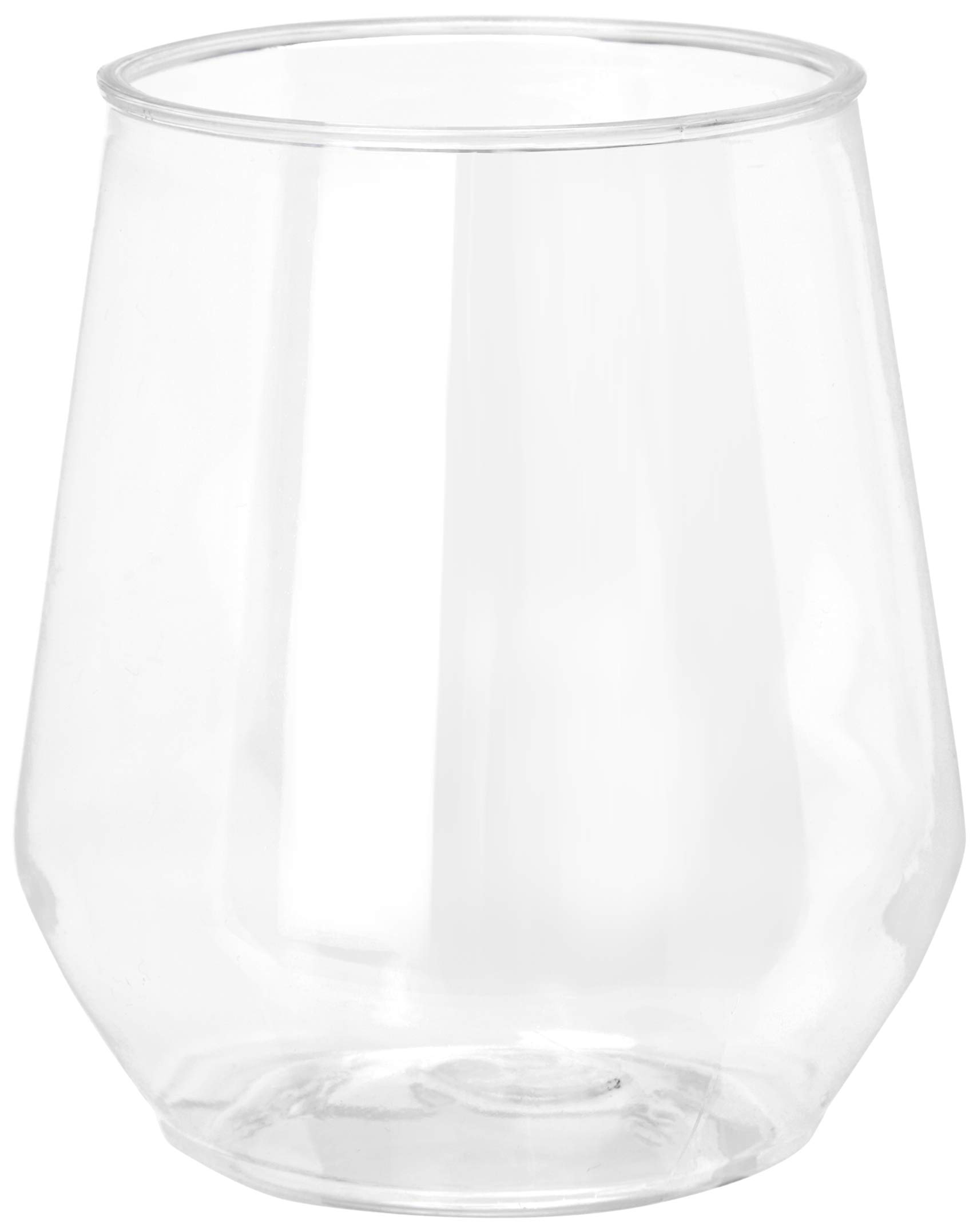 32 count 12 oz Unbreakable Stemless Plastic Wine Champagne Glasses Elegant Durable Reusable Shatterproof Indoor Outdoor Ideal for Home, Office, Bars, Wedding, Bridal Baby Shower by Oojami