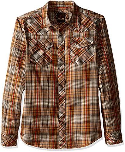 prAna Men's Holstad Shirt, Small, - Cumin Men