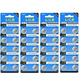 Health & Personal Care : LiCB 40 Pack LR44 AG13 357 303 SR44 Batteries 1.5V Button Coin Cell Battery