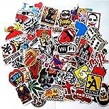 #7: pack of 100pcs Stickers Decals for Laptop,Kids,Cars,Motorcycle,Bicycle,Skateboard Luggage Vinyl Sticker Hippie Decals,Waterproof sticker-Random sticker
