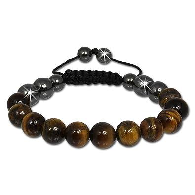 SilberDream Bracelet , Shamballa bracelet oeil de tigre brun de pierre ,  Bracelet Femme et Hommes