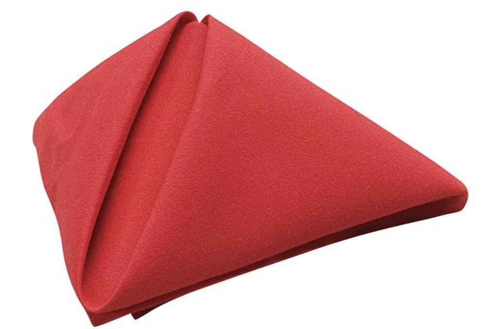 Phoenix 18 by 18-Inch Napkins, Red, Package of 12