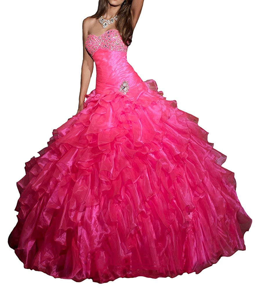 148850338b Aisha Womens Layers Beads Ball Gown Vestidos Quinceanera Dress at Amazon  Womens Clothing store