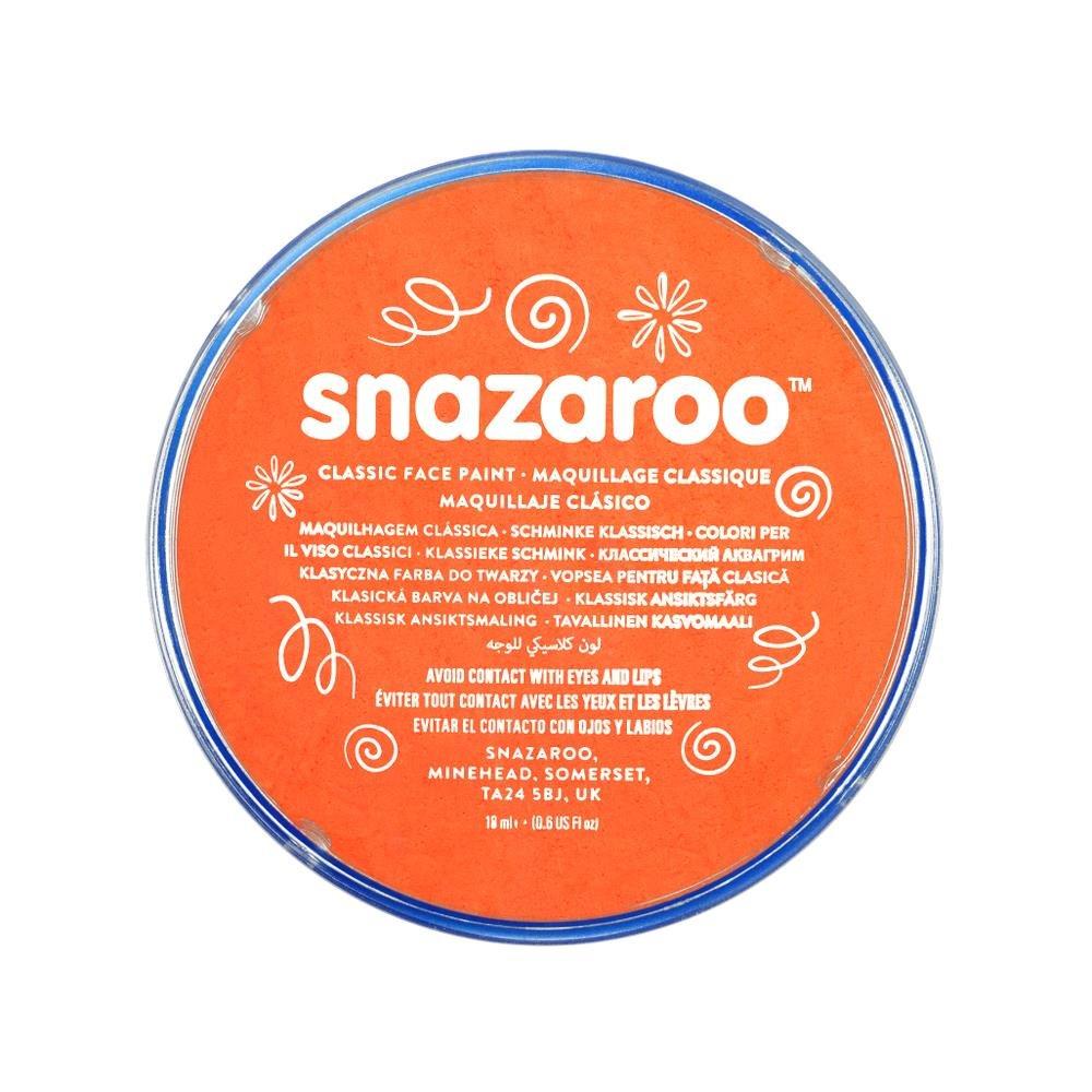 Snazaroo, Orange 1118553 Classic Face Paint, 18ml